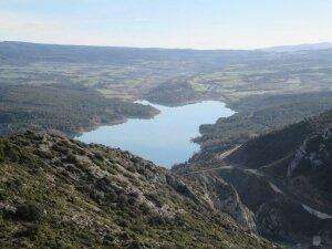 Pantano de Barasona, desde el castillo de Castro