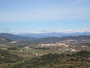 La Puebla de Castro, desde Castro