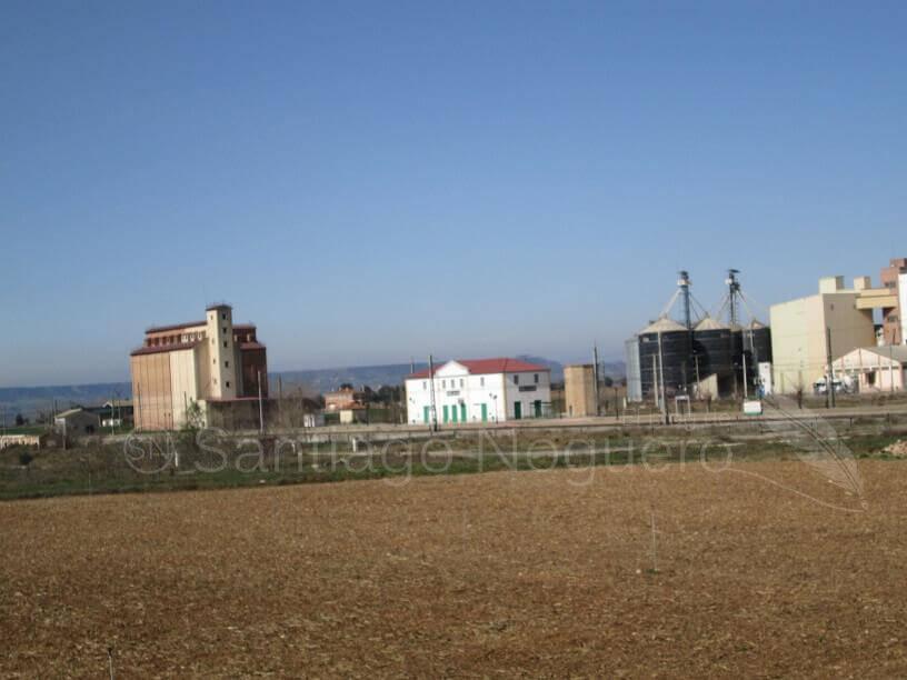 Estación de tren de Selgua y harinera