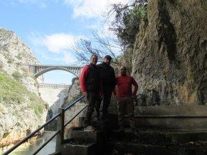 Visitando la presa de Barasona