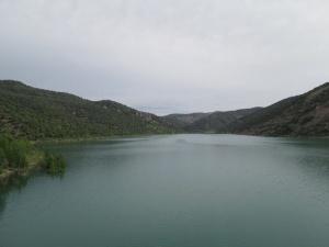 Finestras. Embalse Canelles. Desembocadura río Guart