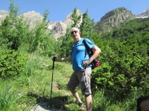 Subiendo a la Cascada del Cinca