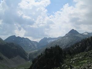 La Escaleta. Picos La Forcanada y d'Aiguallut