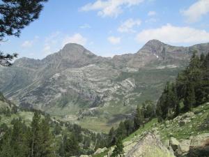 Paso del Portillón entre los picos Salbaguardia y La Mina