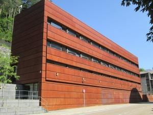 Canfran Estación-Los Arañones. Edificio auxiliar del túnel de Somport