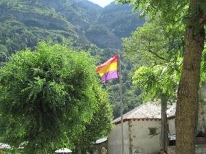 Canfranc. Bandera republicana