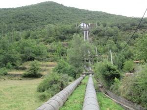 Biescas. Central hidroeléctrica
