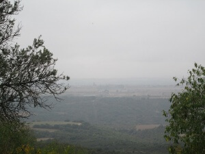 Desde San Romón. Al fondo Casbas de Huesca