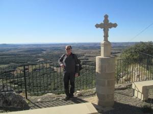 Mirador del Peregrino. Monasterio de El Pueyo