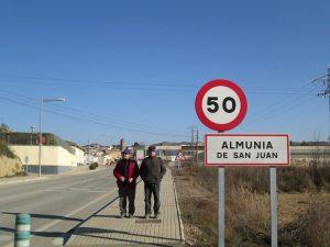 Llegando a Almunia de San Juan