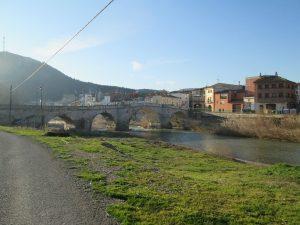 Ballobar. Puente sobre el río Alcanadre