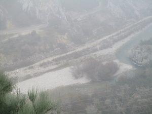 Cauce del Noguera-Ribagorzana, en la presa Santa Ana