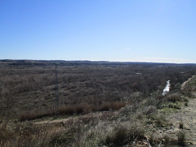 Cauce del río Cinca con sus grandes sotos de ribera