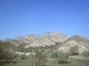 Camino de Tamarite. Territorio de yesos