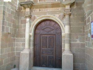 Castejón del Puente. Portada entrada a La Asunción
