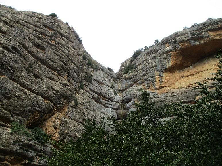 Barranco de San Julián. Verticales paredes