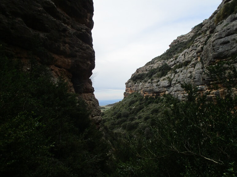 Barranco de San Julián. Salida