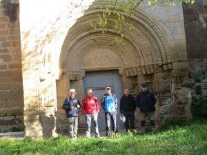 Casbas de Huesca. Portada del Monasterio