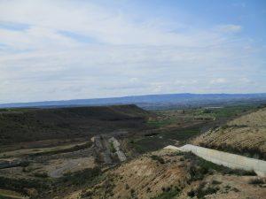 Desde la presa. Al fondo valle del Cinca