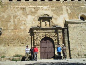 Sieso de Huesca. San Martín Obispo. Portada plateresca