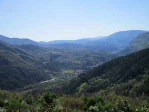 Río Noguera Ribagorzana. Al fondo Pont de Suert