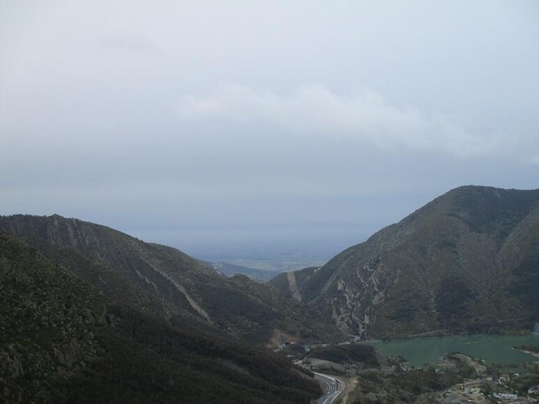 Foz de San Clemente. Al fondo, Huesca