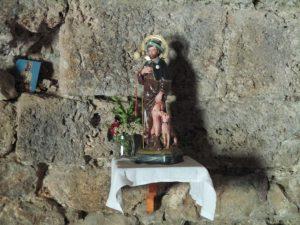 San Roque, en el interior de la ermita de igual nombre. Bonansa