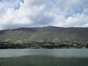 Sierra de Bonés, desde la presa del pantano