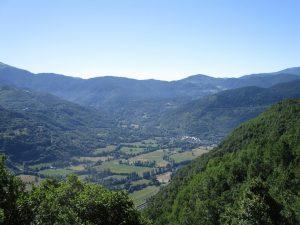 Valle de Benasque. Al fondo Castejón de Sos
