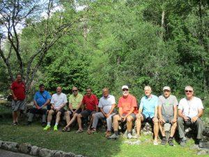 Foto de grupo, en el Balneario de Caldas de Boí