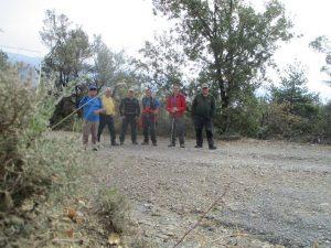 Foto de grupo en la ermita de San Vicente
