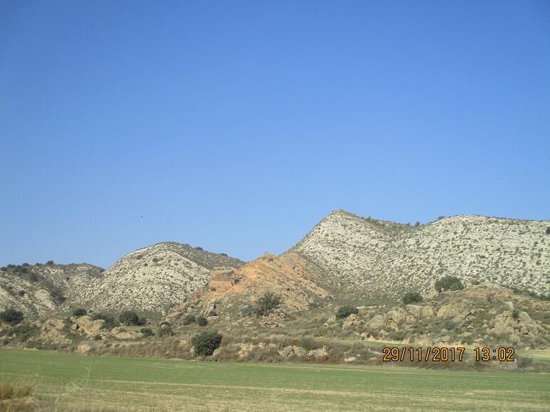 San Esteban de Litera. Colinas de yesos