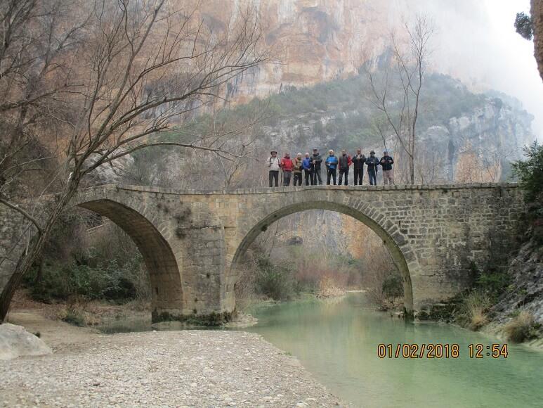 Alquézar. Sobre el puente de Villacantal en el Vero