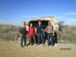Camino de Azanuy. Edificación de yeso