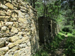 Ruinas de los barracones de los trabajadores