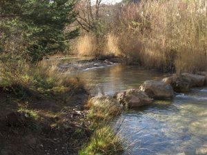 Río Flumen. Paso de piedras