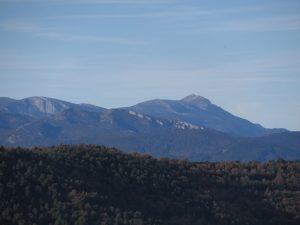 Sierra de Guara y el Tozal, desde San Salvador