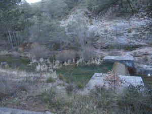 Azud en el barranco Catró