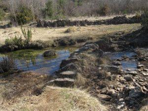 Barranco de Abellada. Piedras pasaderas