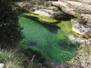Poza en el río Formiga