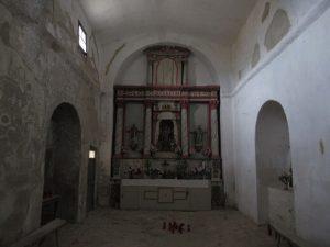 Interior de la ermita Virgen de la Viña