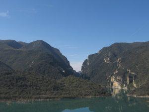 Congosto de Mont-rebei y embalse Canelles