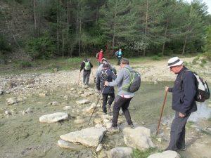 Cruzando el río Sieste