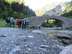 Puente de Bujaruelo. Preparando la partida