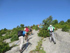 Iniciando la subida al Pico Nabaín