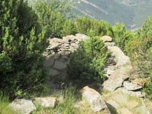 Trinchera de la guerra incivil, junto a la ermita