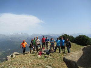 En la cima del Pico Nabaín