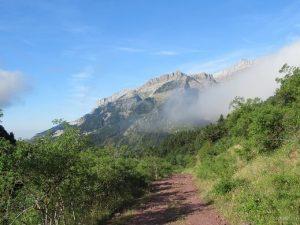 Valle del Aragón con nubes
