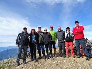 El grupo en la cumbre del Turbón