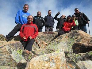 En la cumbre del Pico Cerler